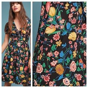 Anthropologie  Bloedel Floral Dress By Maeve
